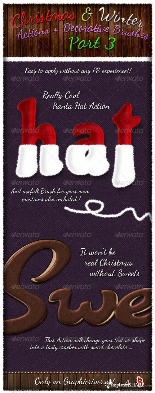 GraphicRiver Christmas And Winter Actions And Brushes 3