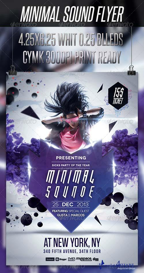 GraphicRiver Minimal Sound Flyer