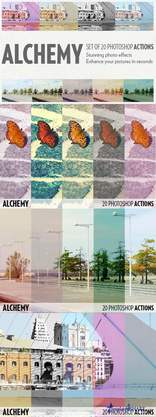 CreativeMarket Alchemy - 20 photoshop actions