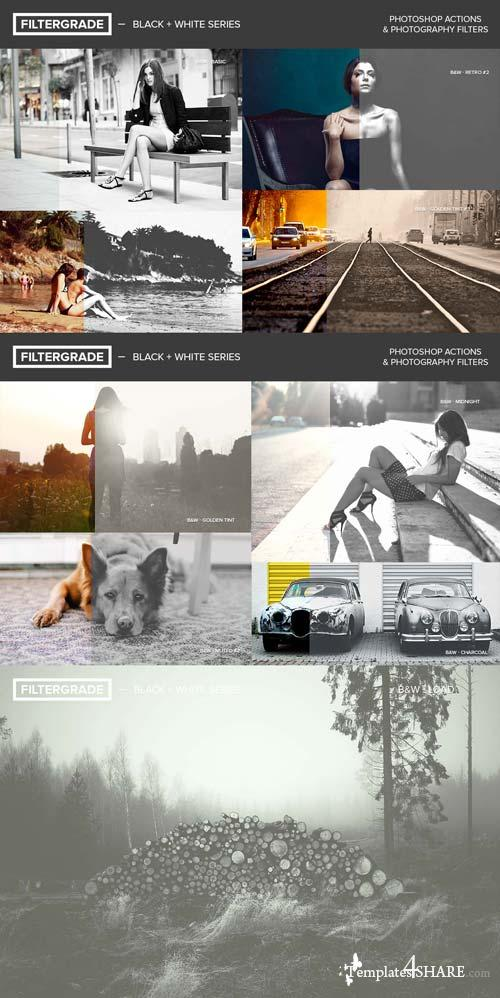 CreativeMarket FilterGrade Black + White Series