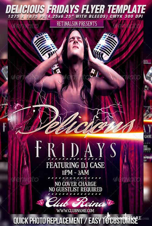 GraphicRiver Delicious Fridays Flyer Template