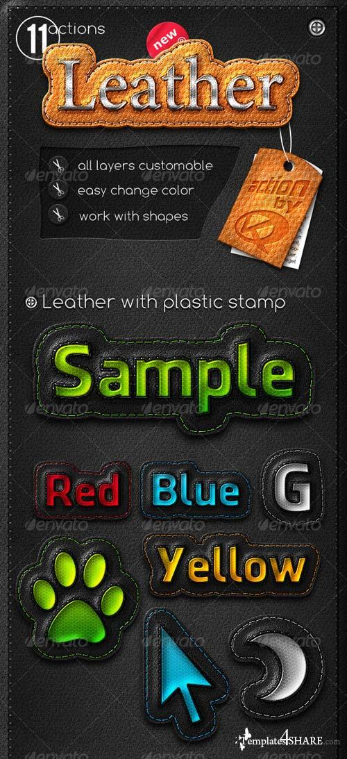 GraphicRiver Leather Stripe Actions