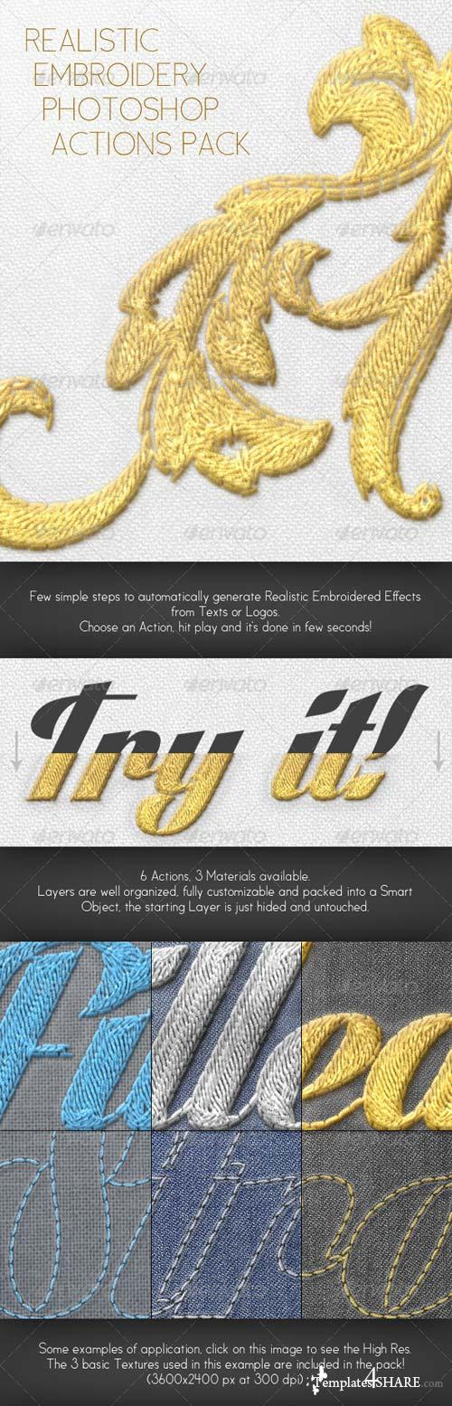GraphicRiver Realistic Embroidery - Photoshop Actions