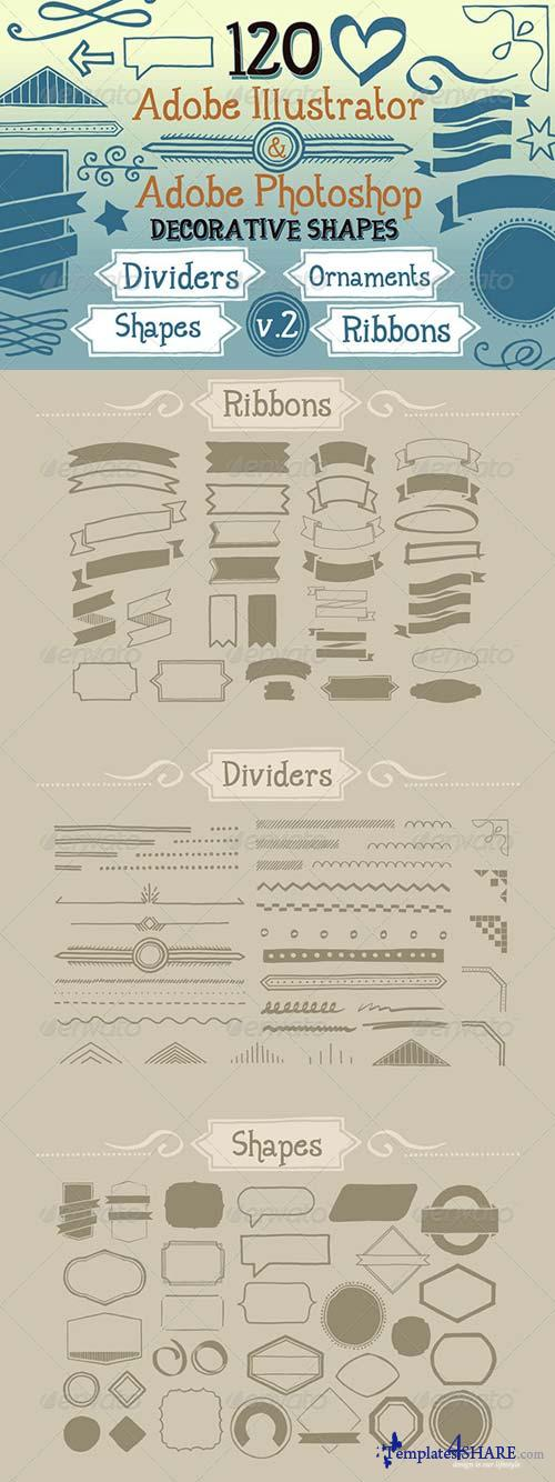 GraphicRiver 120 Handwritten Decorative Shapes 02