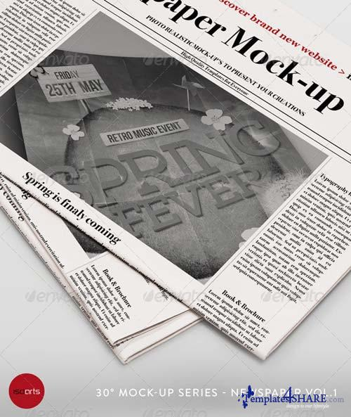 GraphicRiver Mock-Up - Newspaper Vol.1
