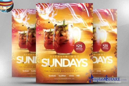 CreativeMarket Sizzlin Sundays Flyer Template