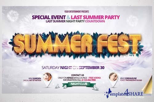 CreativeMarket Summer Fest Flyer