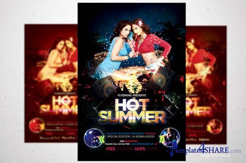 CreativeMarket Summer Hot Flyer