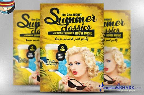 CreativeMarket Summer Classics Flyer Template