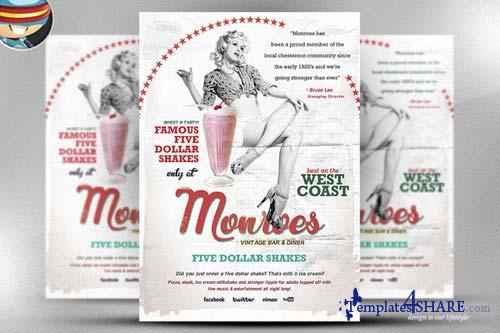 CreativeMarket Monroes Flyer Template