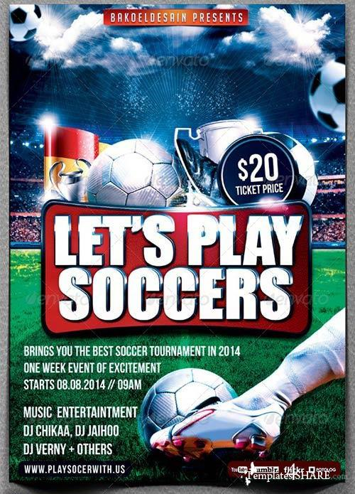 GraphicRiver Let's Play Soccer Flyer