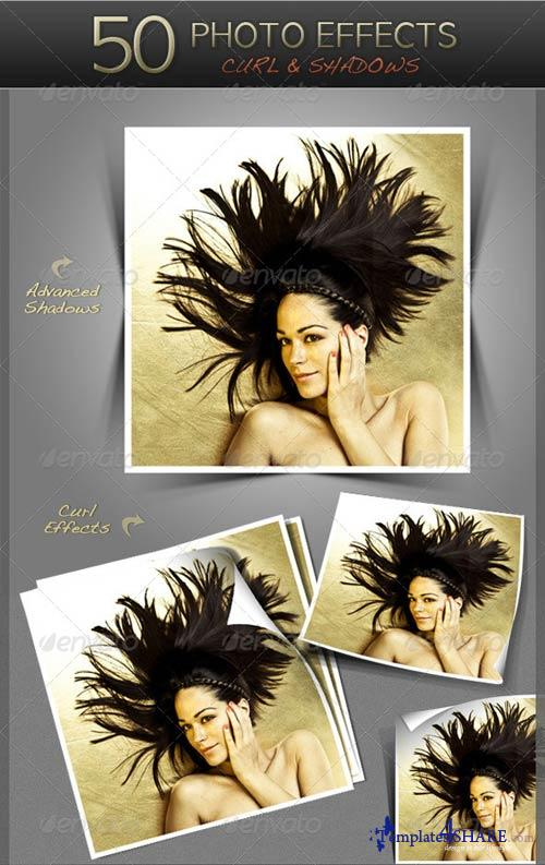 GraphicRiver 50 Photo Effects - Curl & Shadows