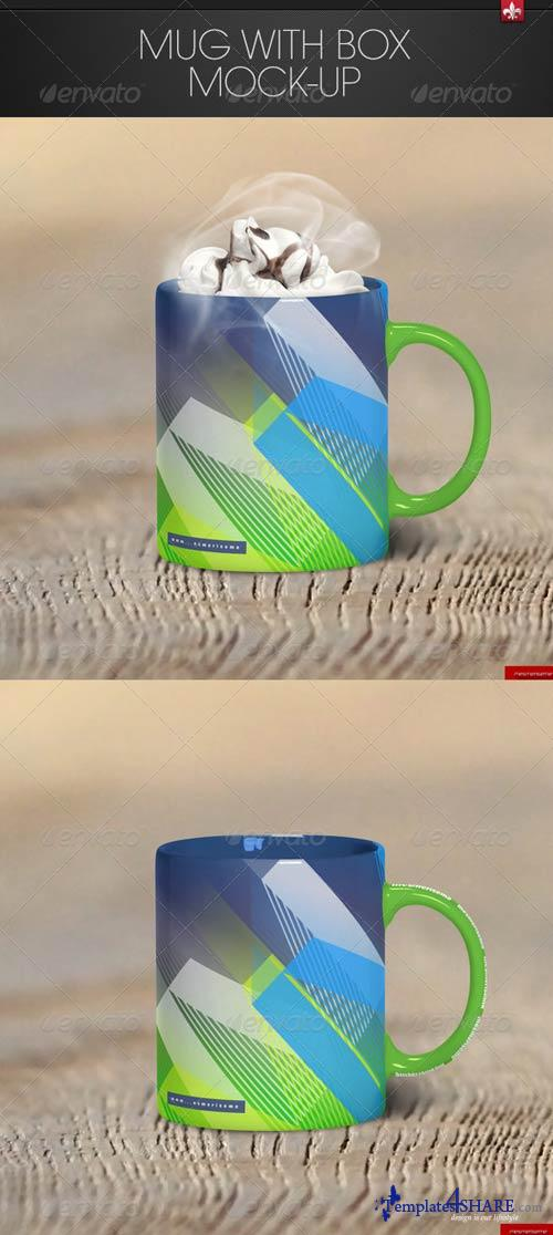GraphicRiver Mug with Box Mock-up