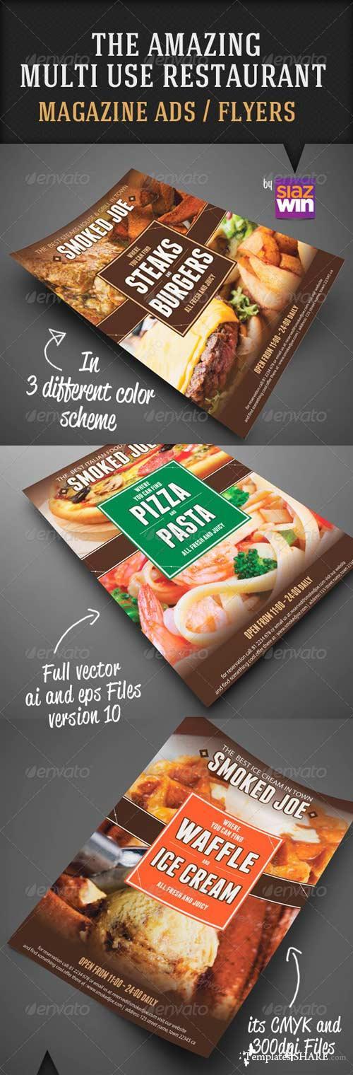 GraphicRiver The Amazing Restaurant Multiuse Magazine Ad / Flyer