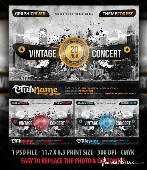 GraphicRiver Retro / Vintage / Indie Concert Flyer / Poster