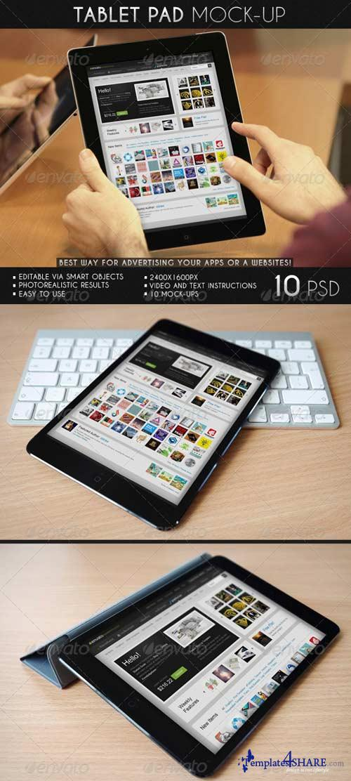 GraphicRiver Tablet Pad Mock-Up