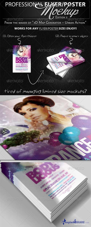GraphicRiver Professional Flyer & Poster Mockup Bundle 3