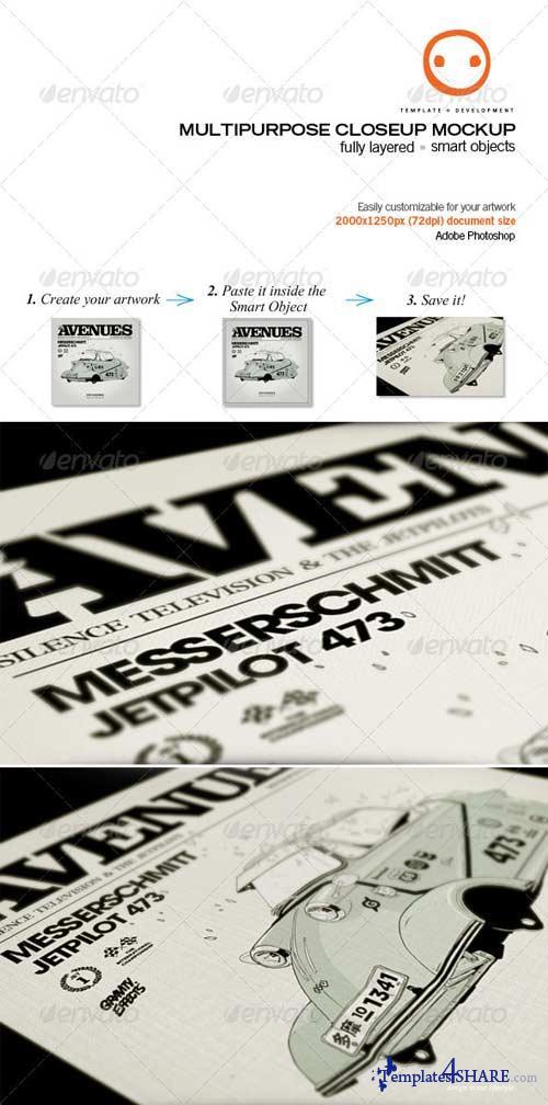 GraphicRiver Multipurpose Closeup Mockup