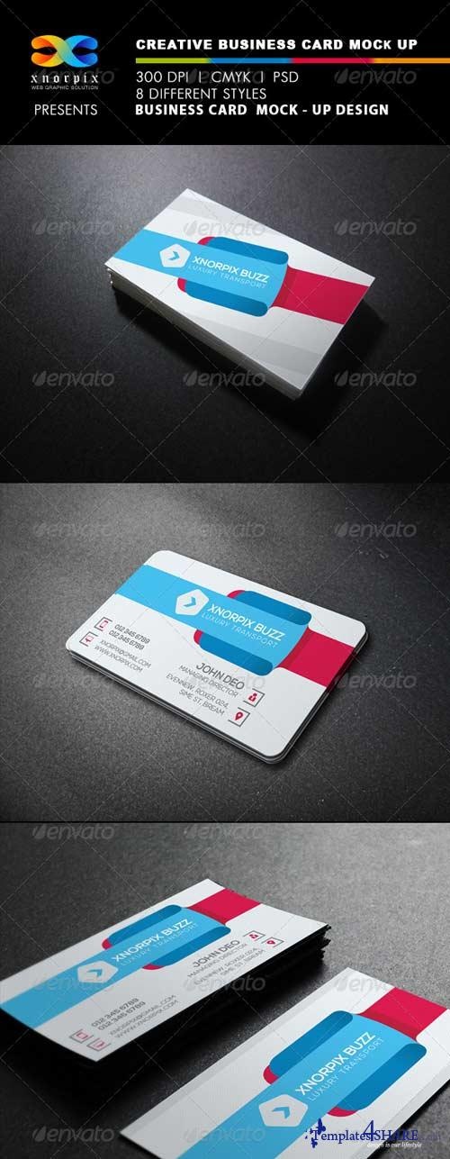 GraphicRiver Realistic Business Card Mock up