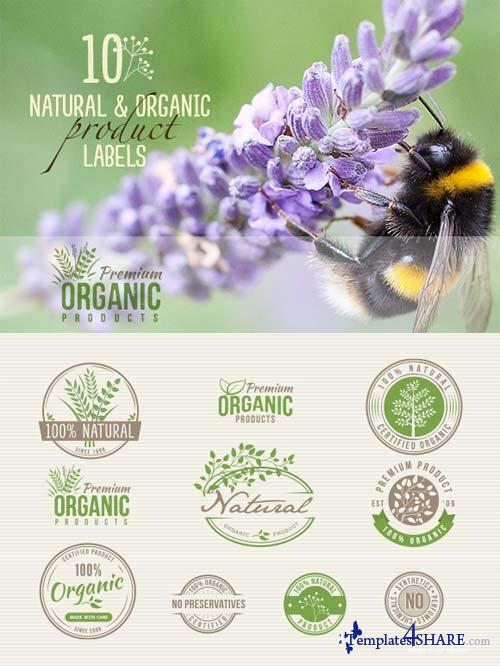 CreativeMarket 10 Natural & Organic Product Labels