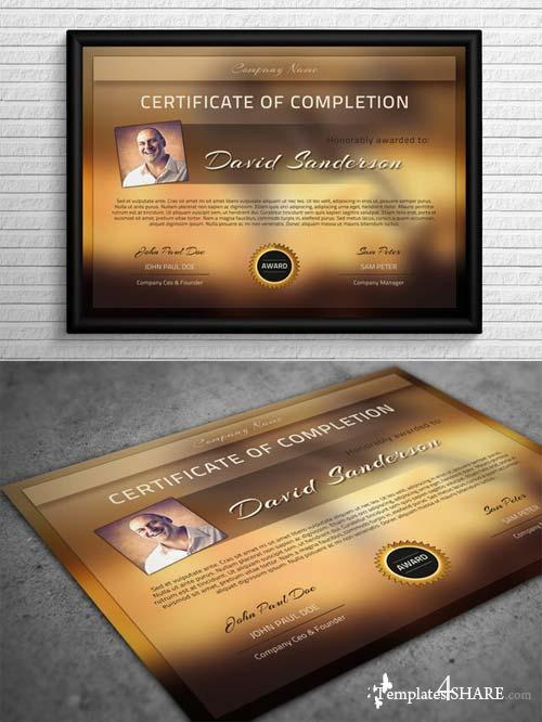 CreativeMarket Modern Certificate Template
