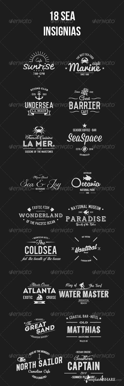 GraphicRiver 18 Sea Insignias