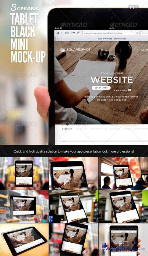 GraphicRiver Tablet Black Pad Mini Mock-Up