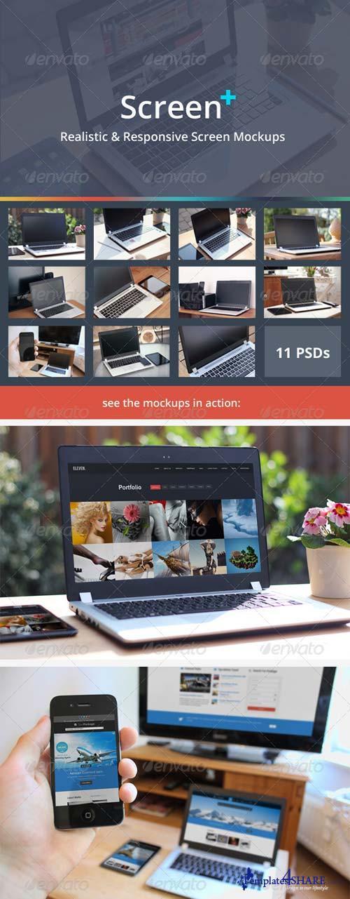 GraphicRiver ScreenPlus - Realistic & Responsive Screen Mockups