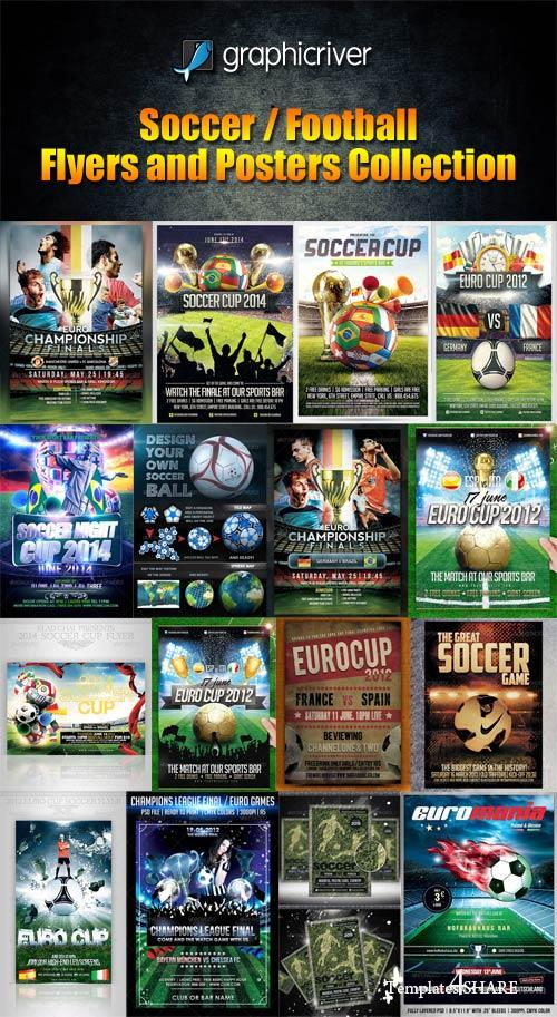 GraphicRiver Soccer / Football Flyers and Posters Collection