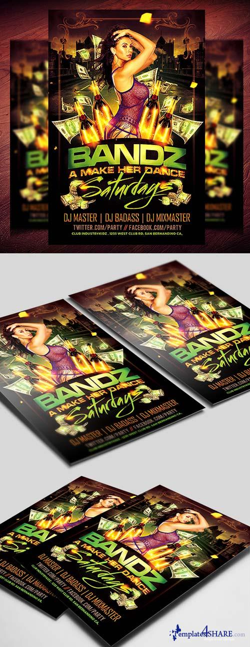 CreativeMarket Bandz a Make Her Dance PSD Flyer