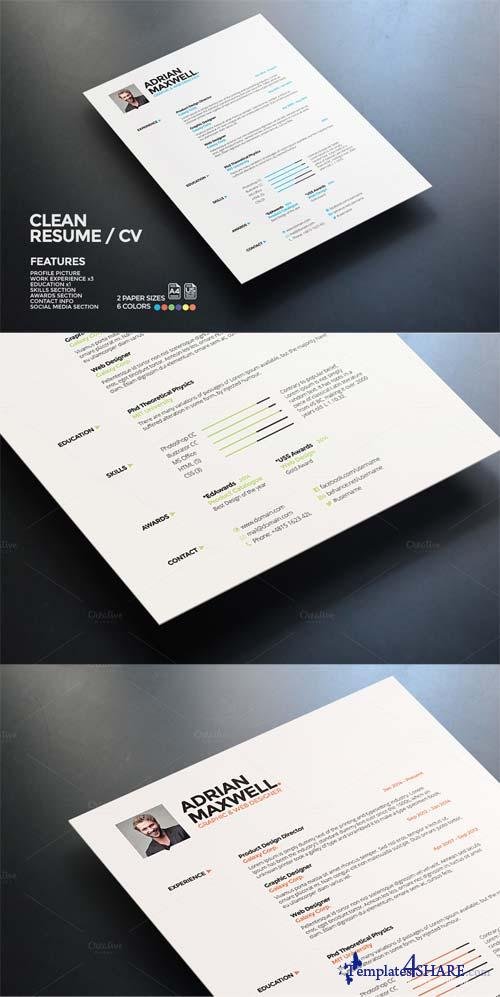 creativemarket clean resume  u00bb templates4share com