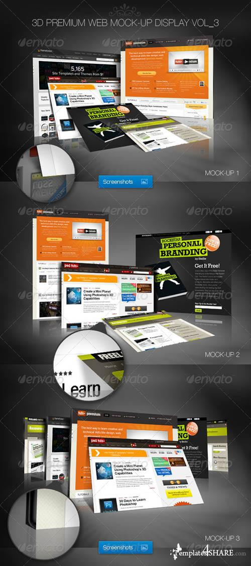 GraphicRiver 3D Premium Web Mock-Up Display Vol_3