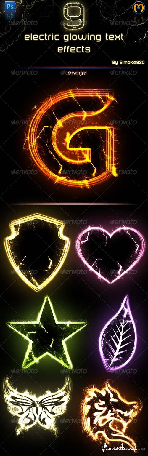 GraphicRiver Electric Glowing effect - Photoshop Action