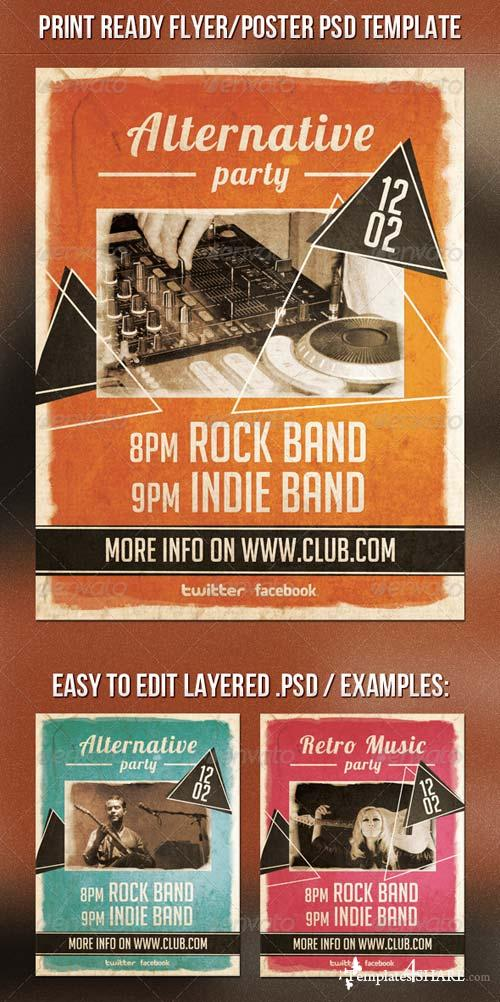 GraphicRiver Alternative Party Flyer 6619002