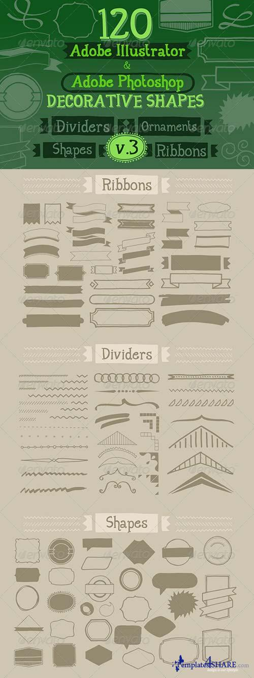GraphicRiver 120 Handwritten Decorative Shapes 03
