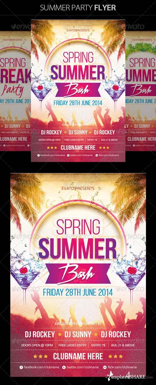 GraphicRiver Summer / Spring Party Flyer