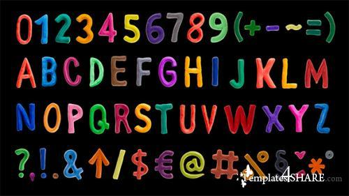 Clay Alphabet - After Effects Project (Videohive)