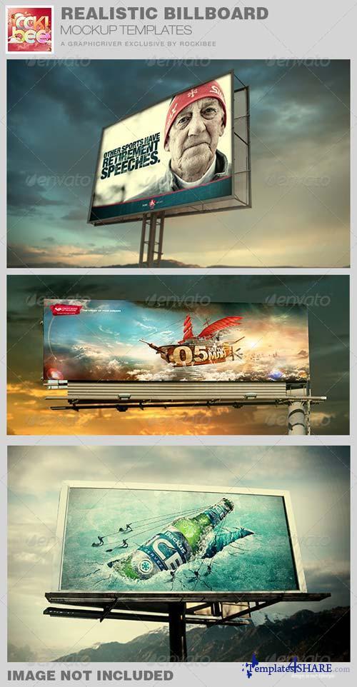 GraphicRiver Realistic Billboard Mockup Template