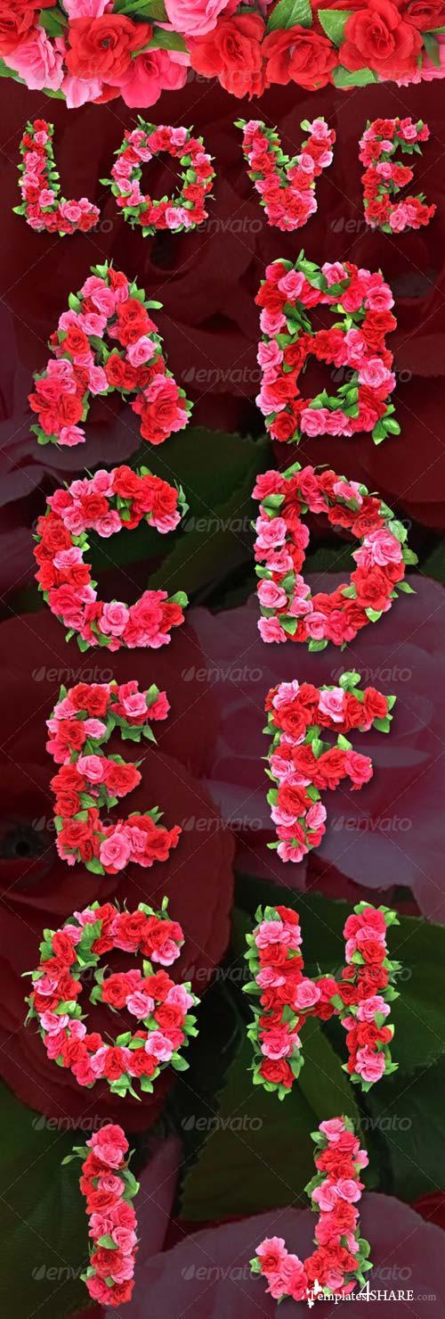 GraphicRiver Roses Alphabet