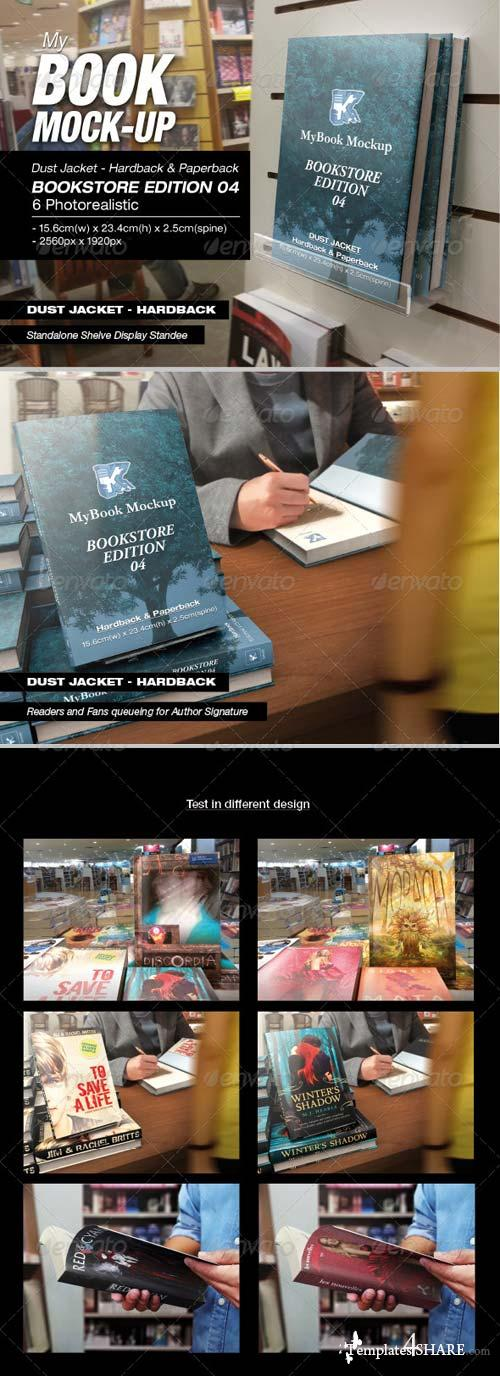 GraphicRiver MyBook Mock-up - Bookstore Edition 04