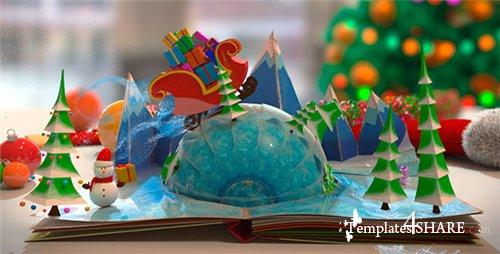 Christmas Pop-Up Book - After Effects Project (Videohive)