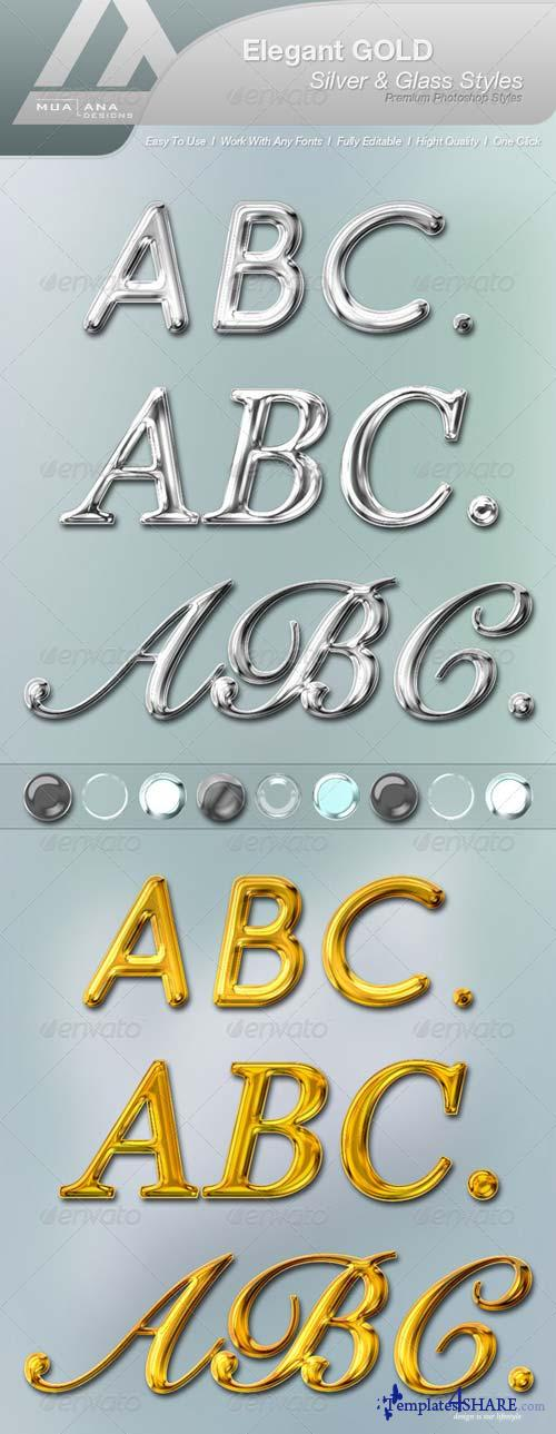 GraphicRiver Elegant Gold, Silver & Glass Styles