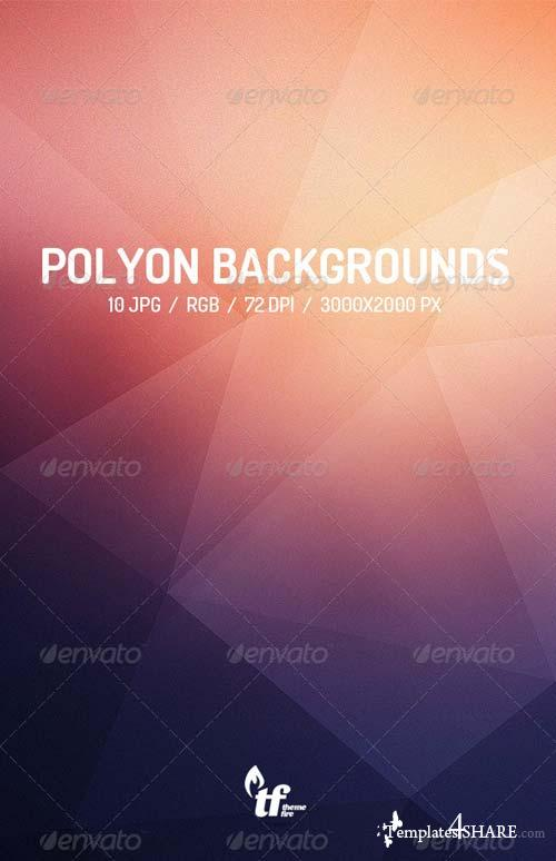 GraphicRiver Abstract Poly Backgrounds