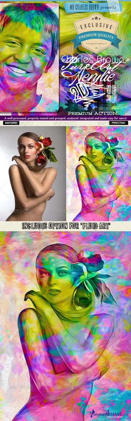GraphicRiver Pure Acrylic Oil 2D Art - Charles Brown's Kit 6