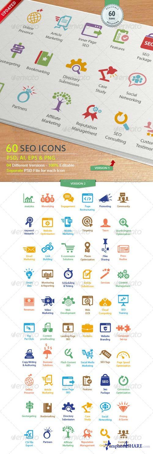 GraphicRiver SEO Services Icons