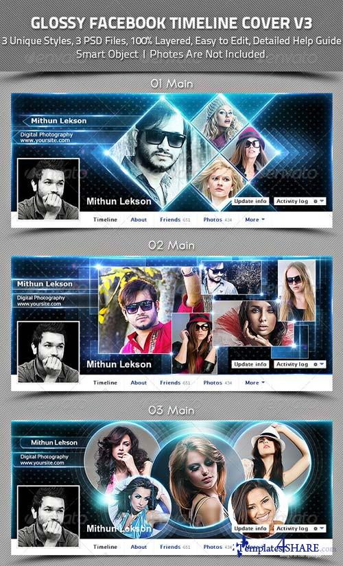 GraphicRiver Glossy Facebook Timeline Cover V3