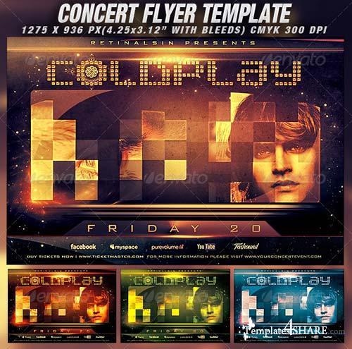 GraphicRiver Concert Flyer Template v.2