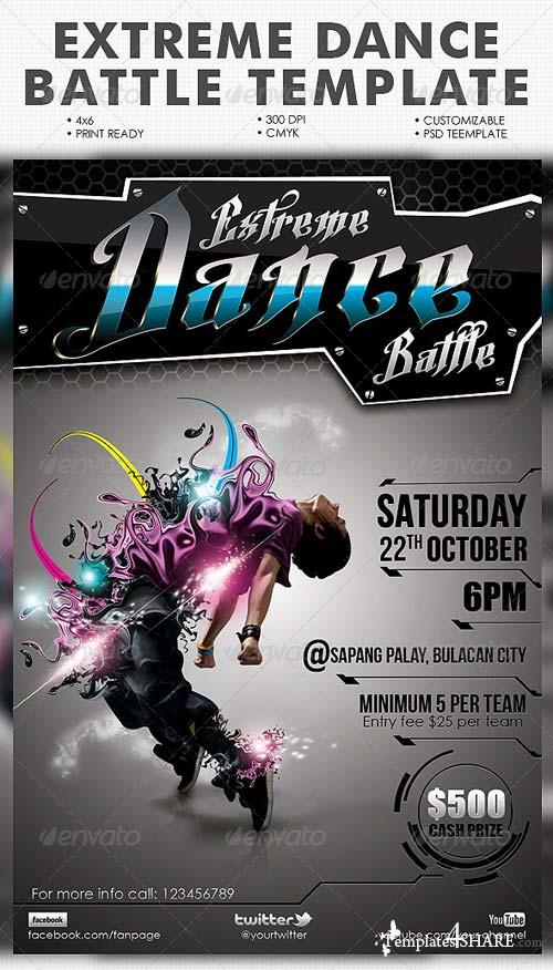 GraphicRiver Extreme Dance Battle Template