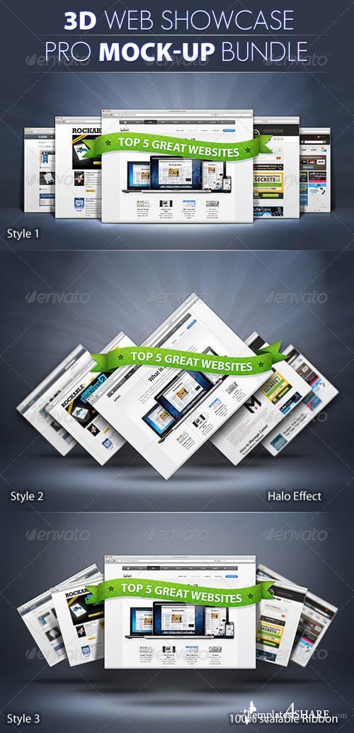 GraphicRiver PRO 3d Web Showcase Mock-ups