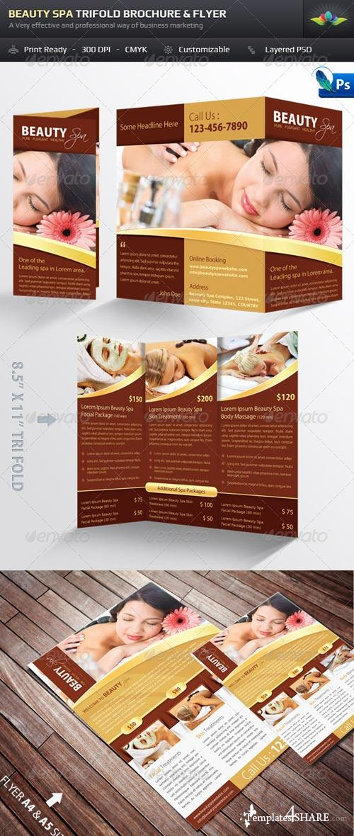 GraphicRiver Beauty Spa Trifold Brochure & Flyer Pack
